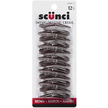 Scunci Metal Snap Clips Brown