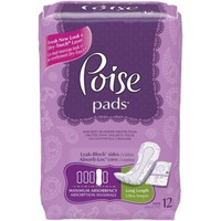 Poise Maximum Absorbency Long Length Incontinence Pads