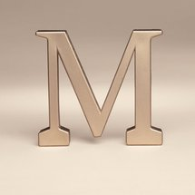 Bakery Crafts Monogram M Wedding Topper