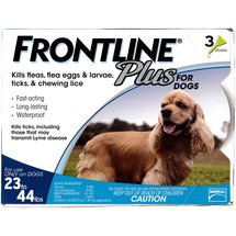 Frontline Plus Flea and Tick Control for Medium Sized Dogs 23 to 44 lbs.