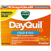 Vicks DayQuil Cold & Flu Multi-Symptom Relief LiquiCaps 24 Count Respiratory Care