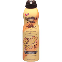 Hawaiian Tropic Silk Hydration Clear Mist Spray Sunscreen SPF 15
