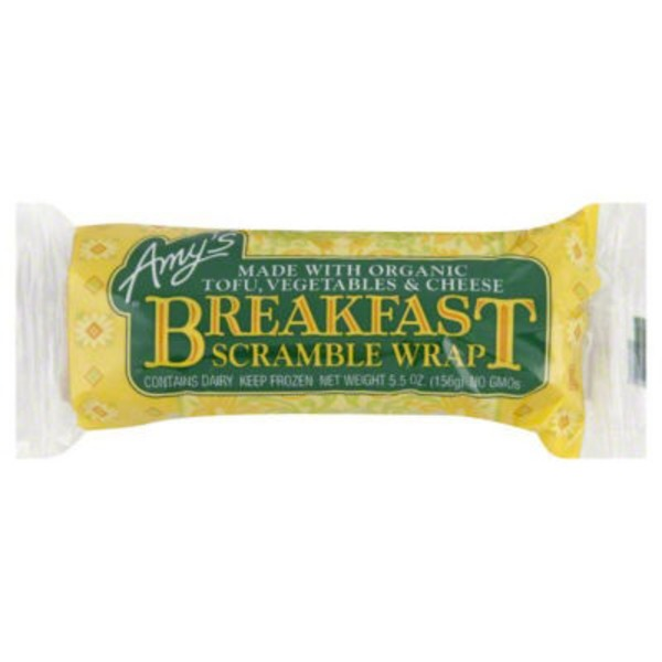 Amy's Breakfast Scramble Wrap