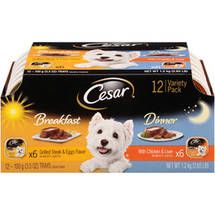 Cesar Canine Cuisine Variety Pack Breakfast and Dinner 12 Count Pack Wet Dog Food