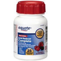 Equate Chewable Dual Action Acid Reducer Complete Tablets
