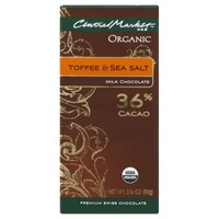 Central Market Organic 36% Cacao Toffee & Sea Salt Milk Chocolate