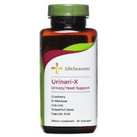 Lifeseasons Urinari-X Urinary/Yeast Support Dietary Supplement Vegicaps