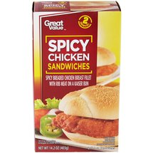Great Value Spicy Chicken Sandwiches