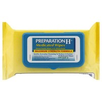 Preparation H Maximum Strength Formula Medicated Wipes