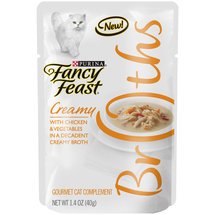 Purina Fancy Feast Broths Creamy with Chicken and Vegetables  Cat Food