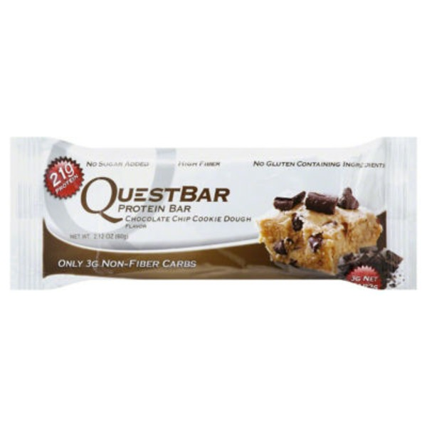 QuestBar Protien Bar Chocolate Chip Cookie Dough