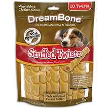 DreamBone Stuffed Twistz Peanut Butter