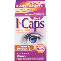 Alcon I-Caps Lutein & Omega-3 Vitamin & Mineral Supplement Softgels