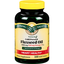 Spring Valley Flaxseed Oil Softgels