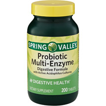Spring Valley Probiotic Multi-Enzyme Digestive Formula Tablets