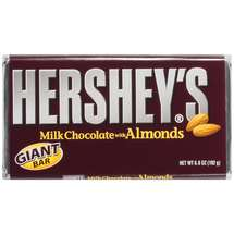 Hersheys Milk Chocolate with Almonds Giant Candy Bar