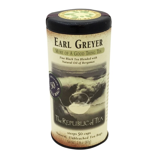 The Republic of Tea Earl Greyer Black Tea Bags 50 Count