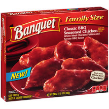 Banquet Family Size Classic BBQ Seasoned Chicken