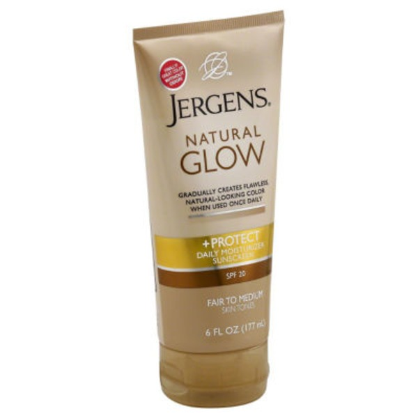 Jergens Natural Glow Natural Glow + Protect Fair to Medium Skin Tones Daily Moisturizer Sunscreen