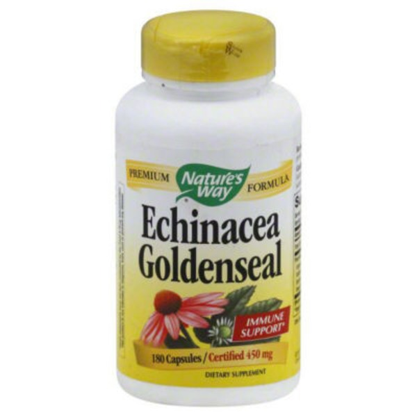 Nature's Way Echinacea Goldenseal, 450 mg, Capsules