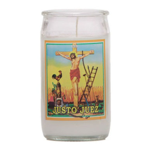 Reed Candle Company The Original Prayer Candle Justo Juez White Wax