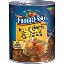 Progresso Slow Cooked Vegetable Beef Soup Rich & Hearty