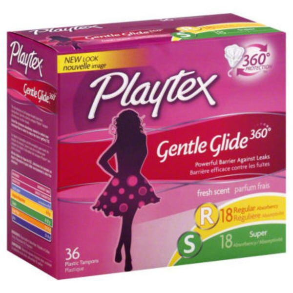 Playtex Gentle Glide 360° Fresh Scented Regular/Super Absorbency Tampons