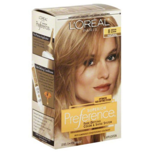 Superior Preference 8 Natural Medium Blonde Hair Color