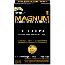 Trojan Magnum Thin Ultrasmooth Large Size Lubricant Condoms