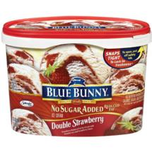 Blue Bunny Frozen Double Strawberry No Sugar Added Reduced Fat Ice Cream