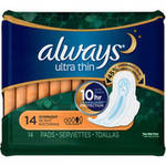 Always Ultra Thin Overnight Pads