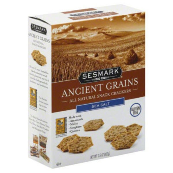 Sessmark Ancient Grains Snack Crackers Sea Salt