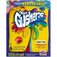 Betty Crocker Fruit Gushers Strawberry Splash/Tropical Flavors Variety Pack Fruit Flavored Snacks