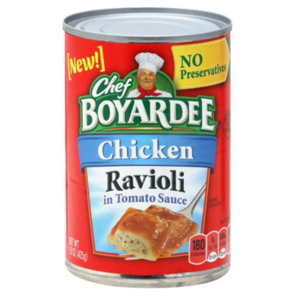 Chef Boyardee in Tomato Sauce Chicken Ravioli