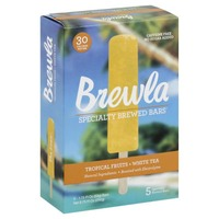 Brewla Brewed Bars, Specialty, Tropical Fruits + White Tea