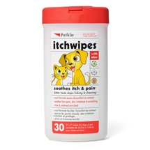 Petkin ItchWipes with Aloe for Dogs and Cats