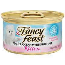 Fancy Feast Kitten Tender Ocean Whitefish Feast Cat Food