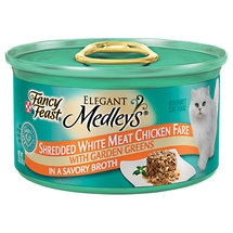 Fancy Feast Elegant Medleys Shredded White Meat Chicken Fare In A Savory Broth w/Garden Greens Cat Food