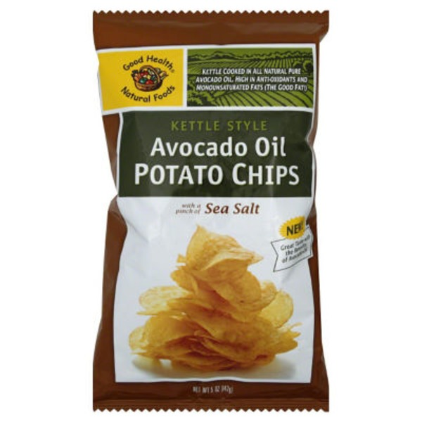 Good Health Natural Foods Kettle Style Avocado Oil Potato Chips Pinch of Sea Salt