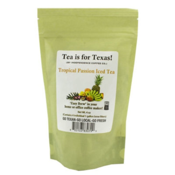 Independence Coffee Co Tea Is For Texas! Tropical Passion Iced Tea Bags