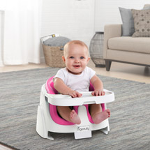 Ingenuity Baby Base 2-in-1 Booster Seat Magenta