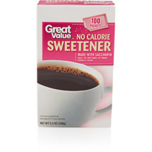 Great Value No Calorie Sweetener Packets