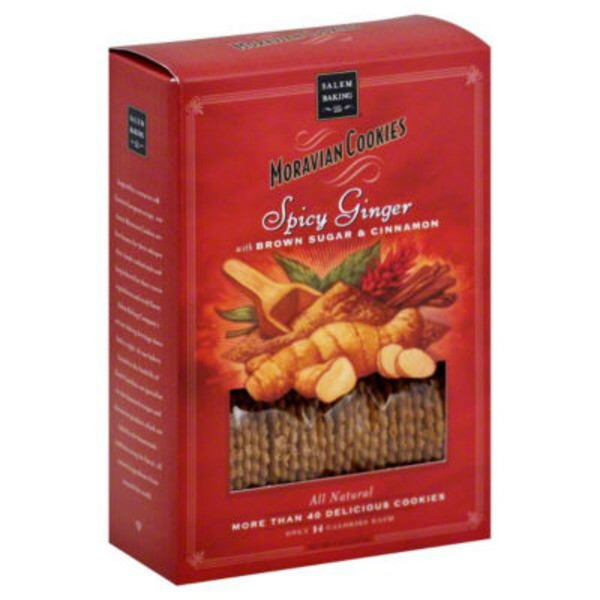 Salem Baking Company Moravian Cookies Spicy Ginger