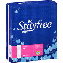 Stayfree Maxi Super Pads