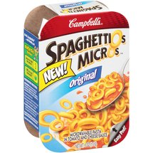 Campbell's SpaghettiOs MicrOs Original Microwavable Pasta in Tomato and Cheese Sauce