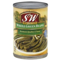 S&W Whole Green Beans