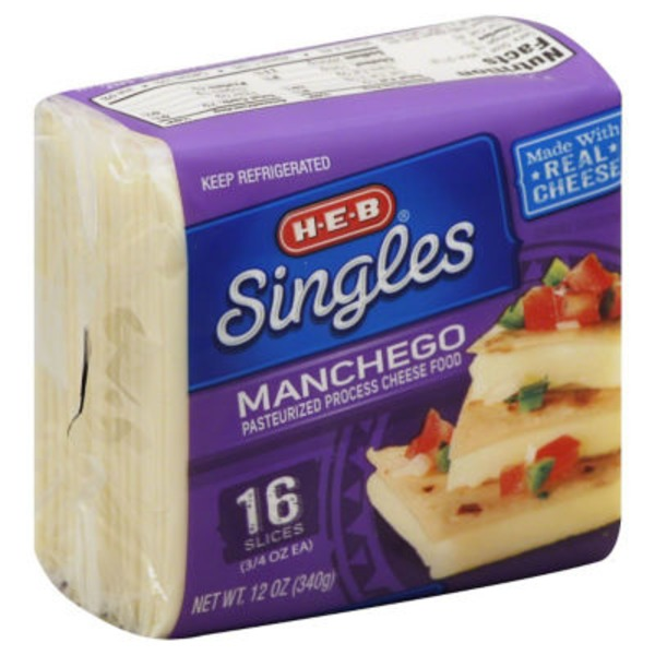 H-E-B Singles Manchego Cheese Slices