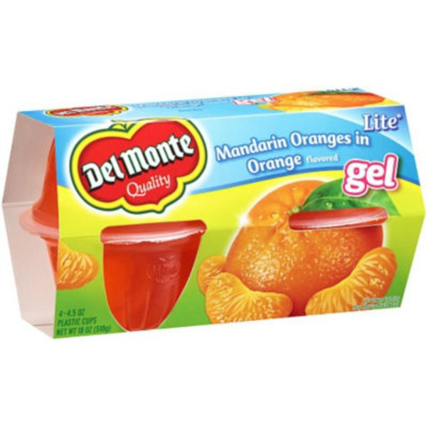 Del Monte Lite Mandarin Oranges in Orange Flavored Gel Fruit Cups