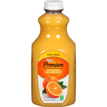 Great Value 100% Pure Pulp Free Orange Juice