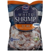 Kroger Raw White Shrimp Headless Shell-On